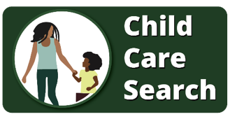 dark green Indiana Child Care Search button